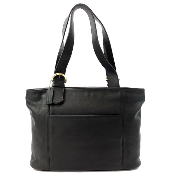 COACH Tote Bag 4155 Old coach leather black Women Used