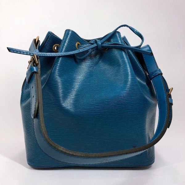LOUIS VUITTON Shoulder Bag M44005 Noe Epi Leather blue Women Used