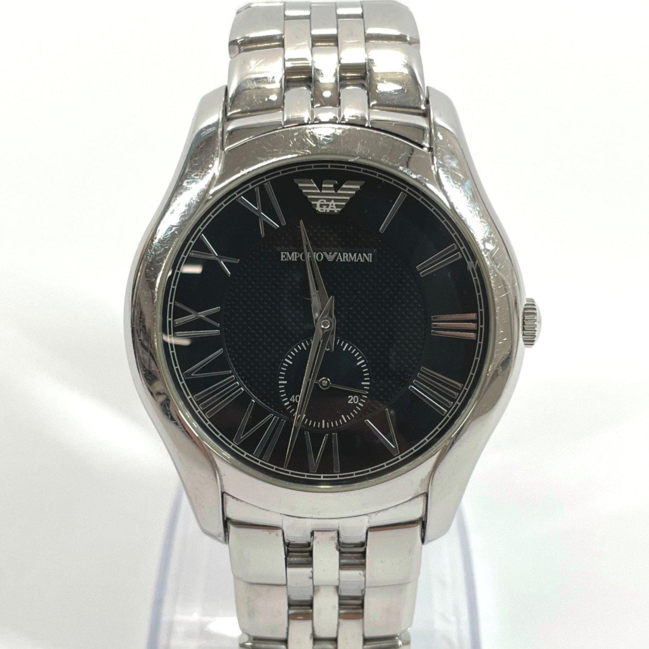 Emporio Armani Watches AR-1706 quartz Stainless Steel Silver mens Used