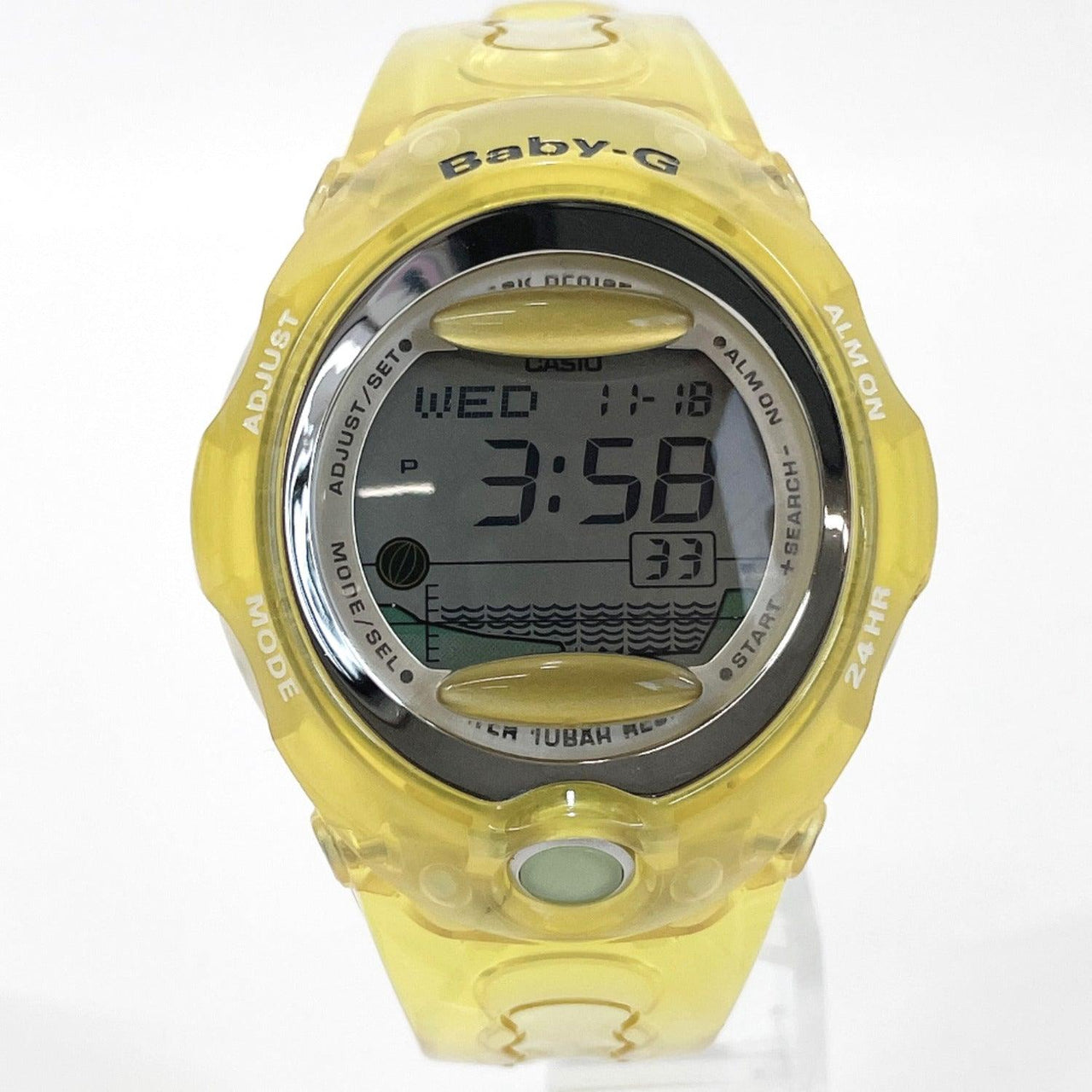 CASIO Watches BGX-200 Baby G Synthetic resin yellow unisex Used