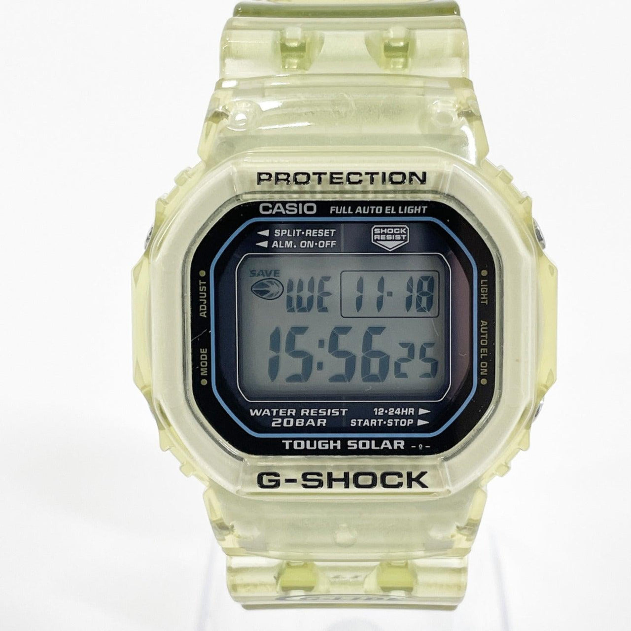 CASIO Watches GL-230-2BJF G shock G-LIDE Synthetic resin yellow mens Used