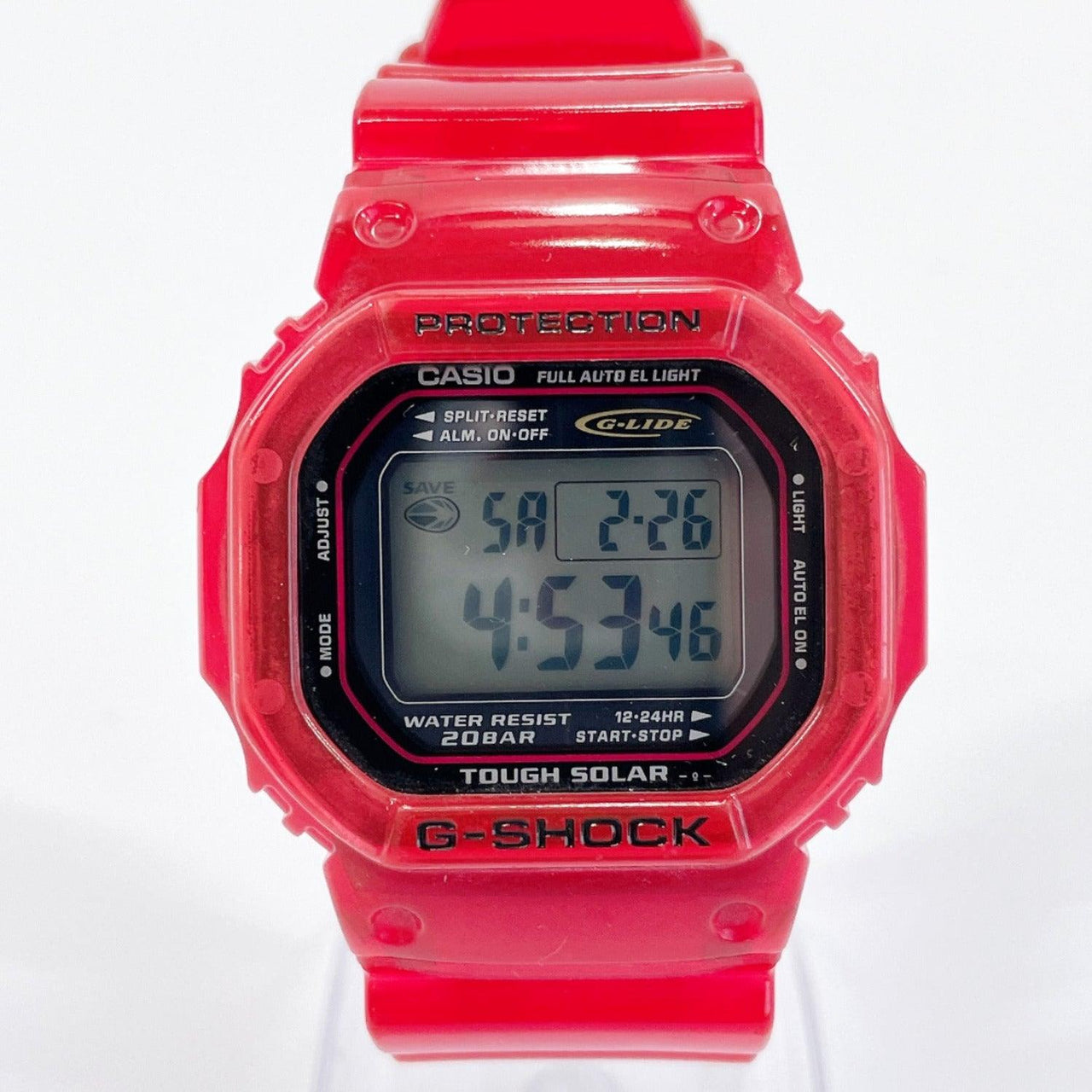 CASIO Watches GL-200-4AJF G shock G-LIDE Synthetic resin Red mens Used