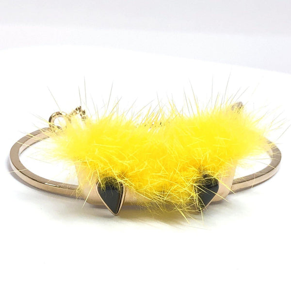 FENDI bracelet 2916 monster Bag bugs eye metal gold Women Used