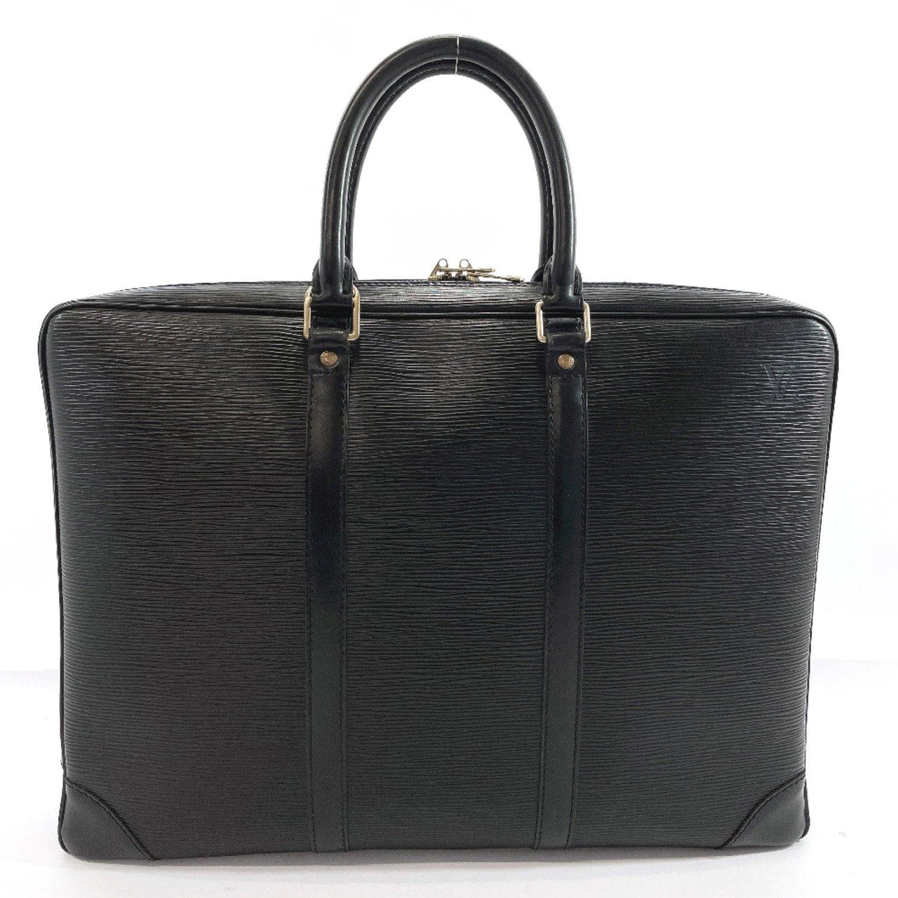 LOUIS VUITTON Business bag M59162 Porte de Cuman Voyage Epi Leather black mens Used - JP-BRANDS.com