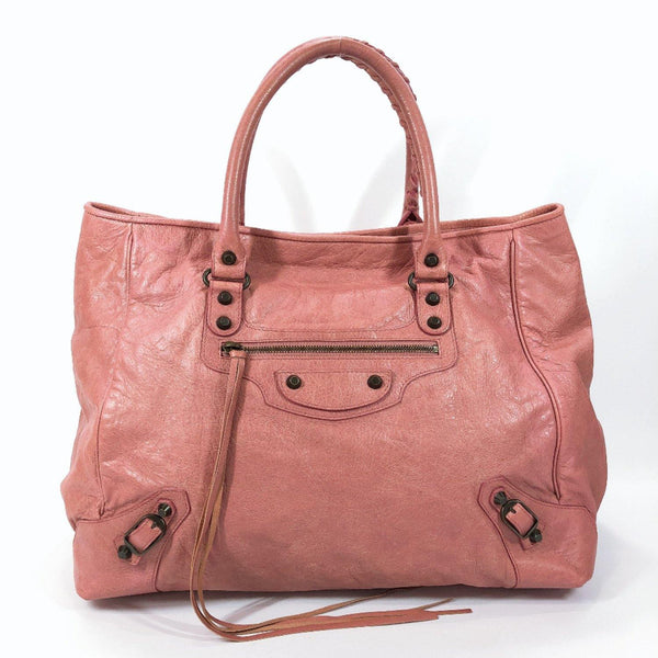 BALENCIAGA Tote Bag 228755 6320 002123 The Sunday leather pink Women Used