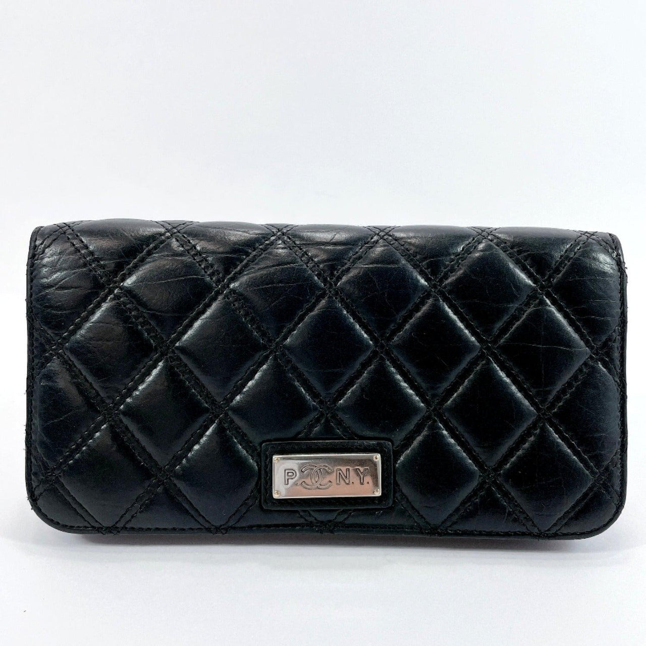 CHANEL purse Bicolole lambskin black Women Used