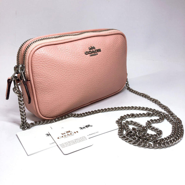 COACH Shoulder Bag F72490 Chain leather pink Women Used
