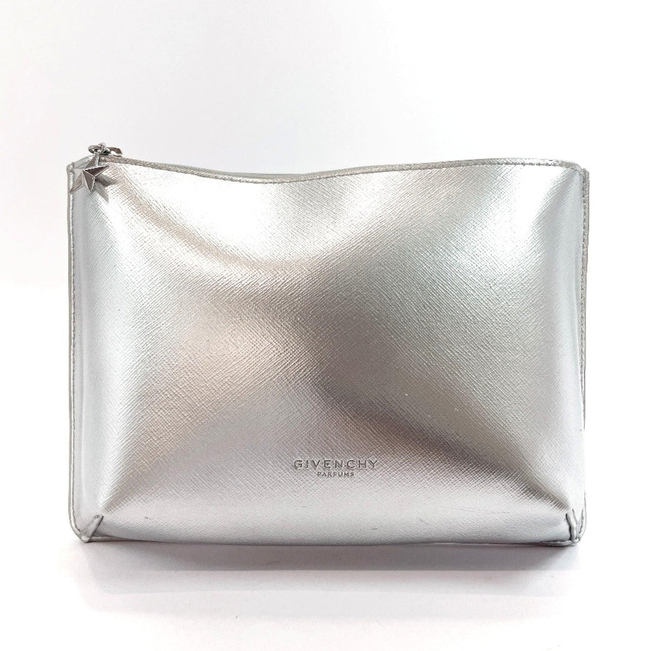 Givenchy Pouch novelty Polyurethane Silver Women Used