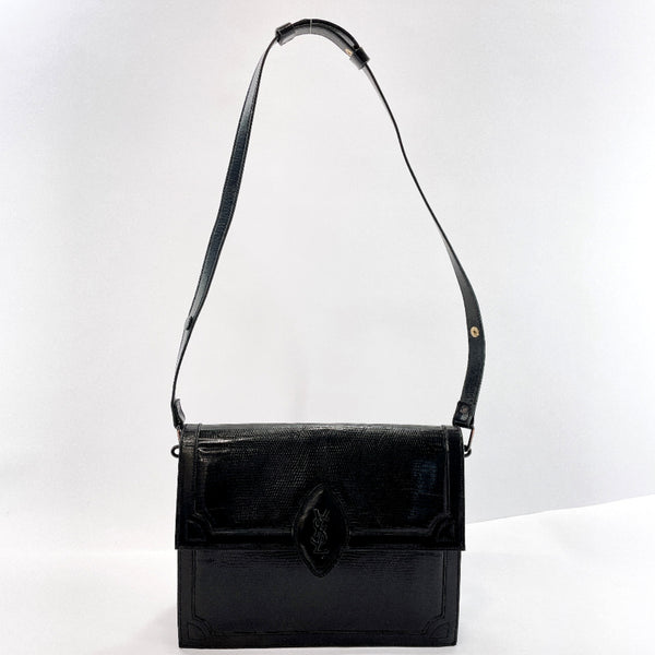 YVES SAINT LAURENT Shoulder Bag vintage leather black Women Used