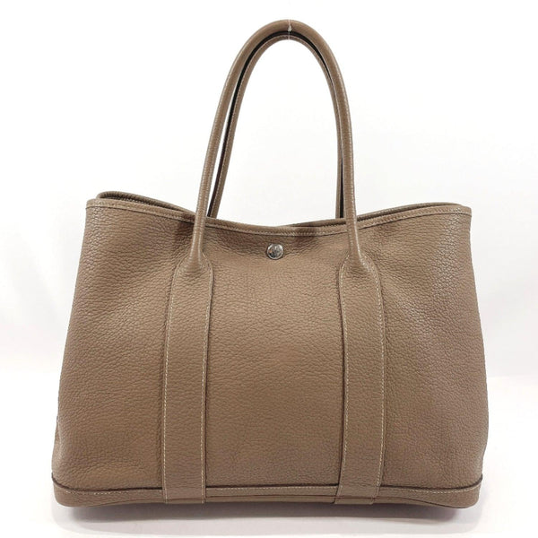 HERMES Tote Bag Garden party PM Negonda/SilverHardware beige Etope □KCarved seal Women Used