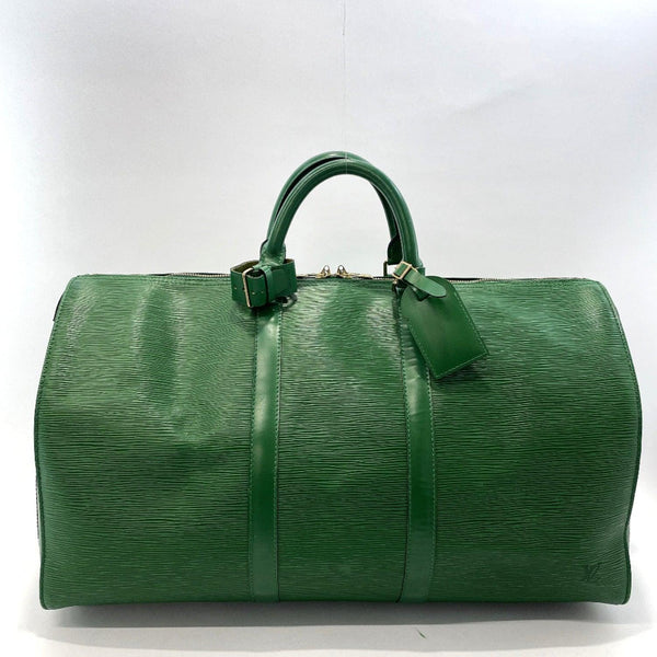 LOUIS VUITTON Boston bag M42964 Keepall 50 Epi Leather green Women Used