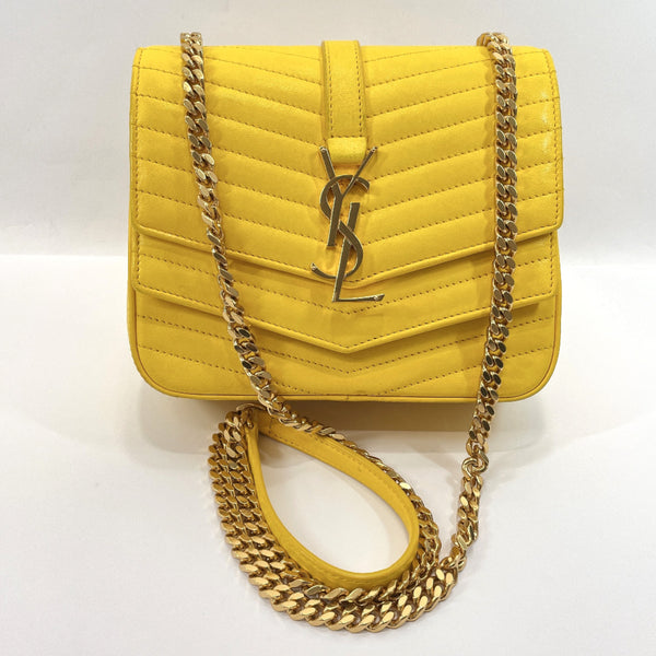 SAINT LAURENT PARIS Shoulder Bag YSL532662.1018 Sulpis Small leather yellow Women Used