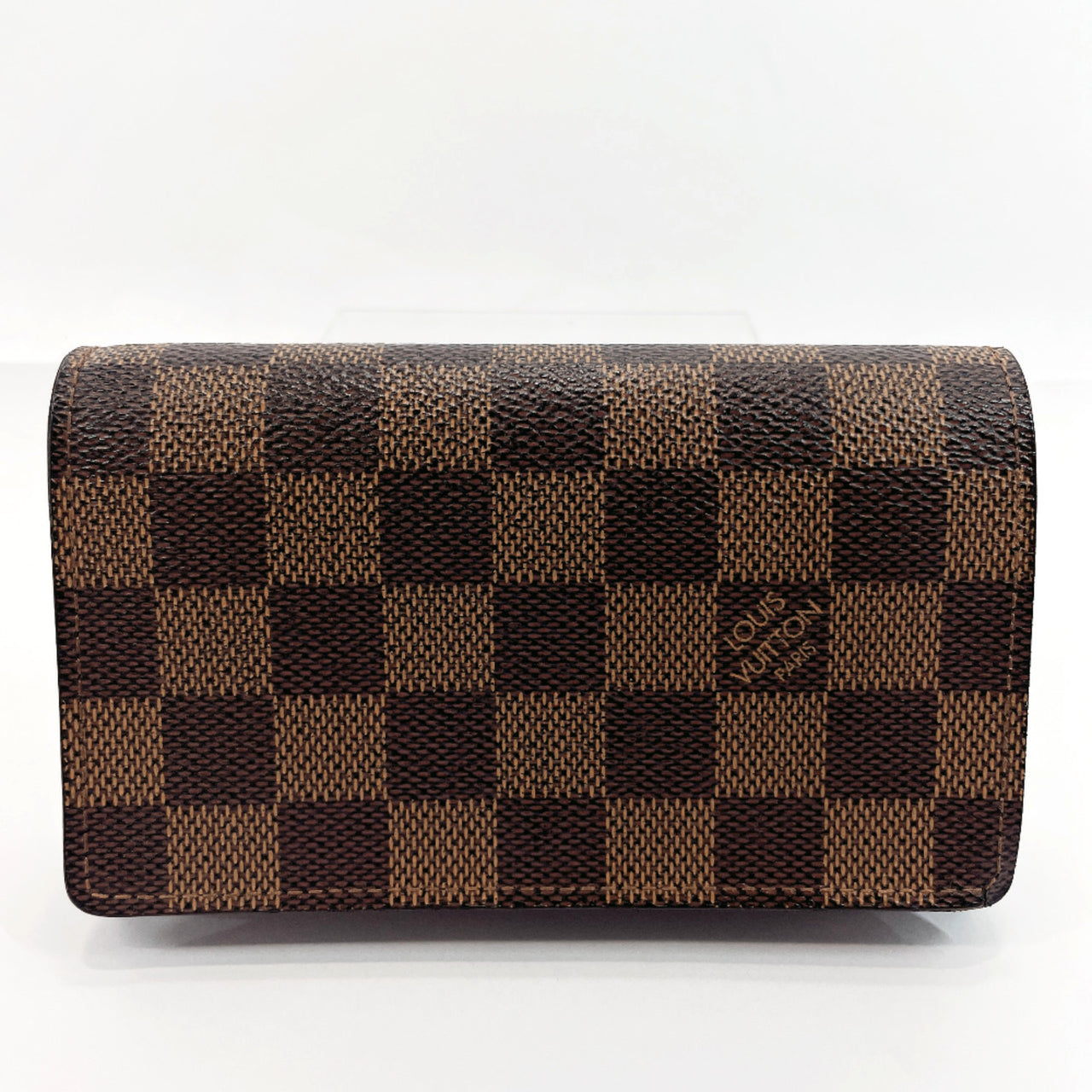 LOUIS VUITTON wallet N61736 Portefeiulle Tresol L-shaped fastener Damier canvas Brown Women Used