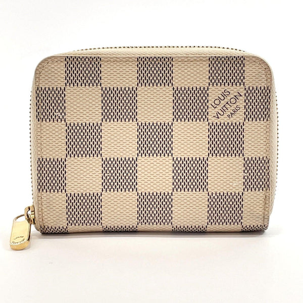 LOUIS VUITTON coin purse N63069 Zippy coin purse Damier Azur Canvas white Women Used