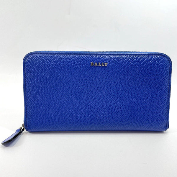 BALLY purse 6204644 Round zip leather blue Women Used