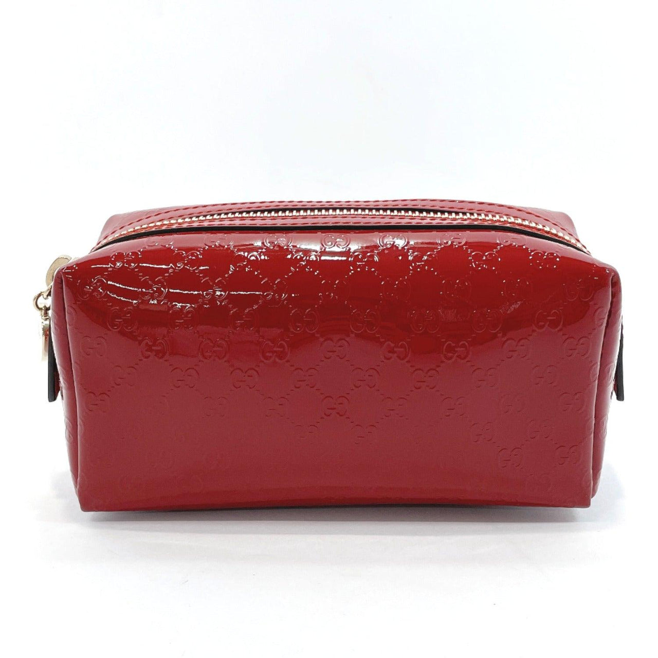 GUCCI Pouch 153228 Micro Gucci Shima Patent leather Red Women Used