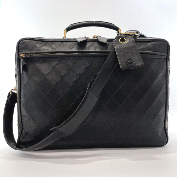 CHANEL Business bag Bicolore Briefcase 2WAY cosmos line lambskin black Gold Hardware mens Used