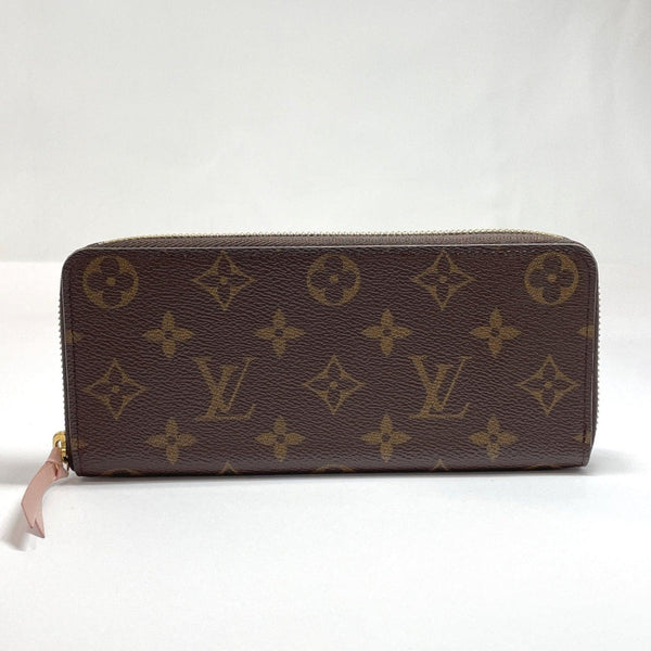 LOUIS VUITTON purse M61298 Portefeiulle Clement Rose Ballerine Monogram canvas Brown Rose valerine Women Used