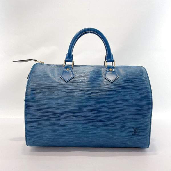 LOUIS VUITTON Handbag M43005 Speedy 30 Epi Leather blue Women Used