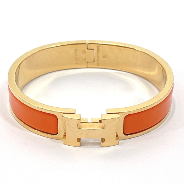 HERMES bracelet Click crack metal Orange gold □O Women Used