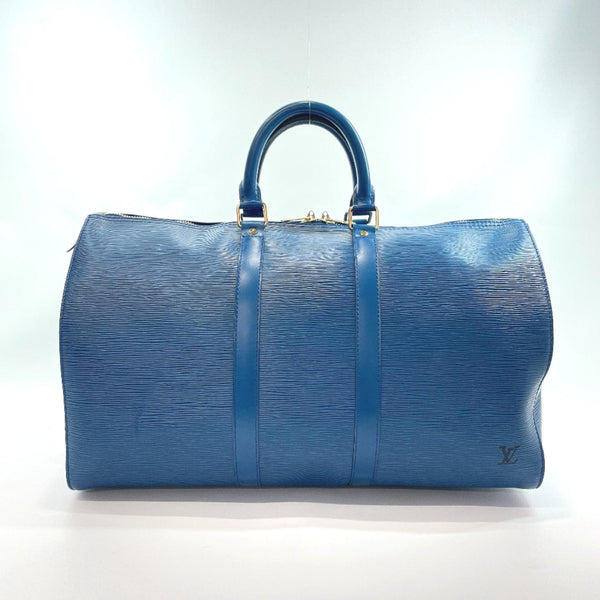 LOUIS VUITTON Boston bag M42975 Keepall 45 Epi Leather blue mens Used