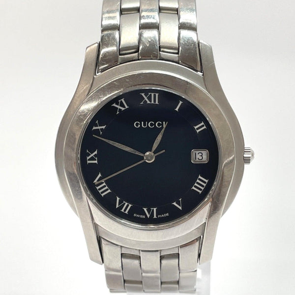 GUCCI Watches 5500M quartz Stainless Steel Silver mens Used