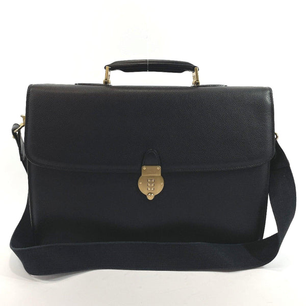 BALLY Business bag 2way leather black Gold Hardware mens Used