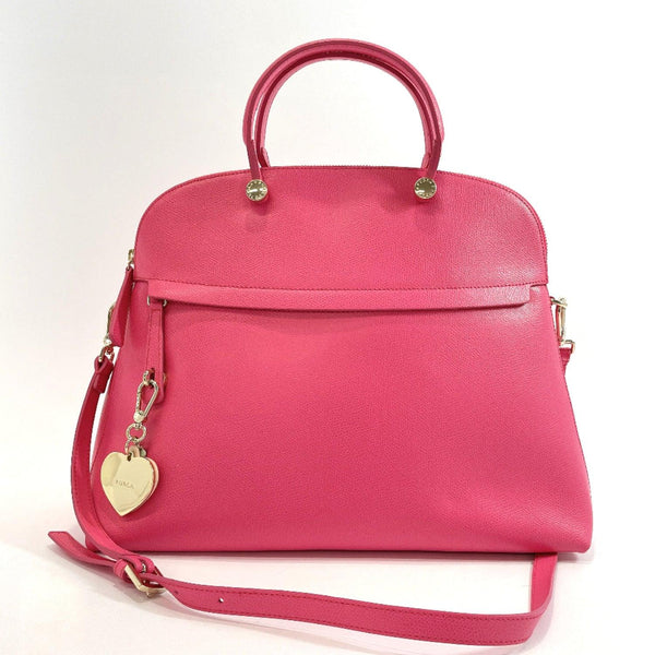 Furla Handbag Piper 2way leather pink Women Used