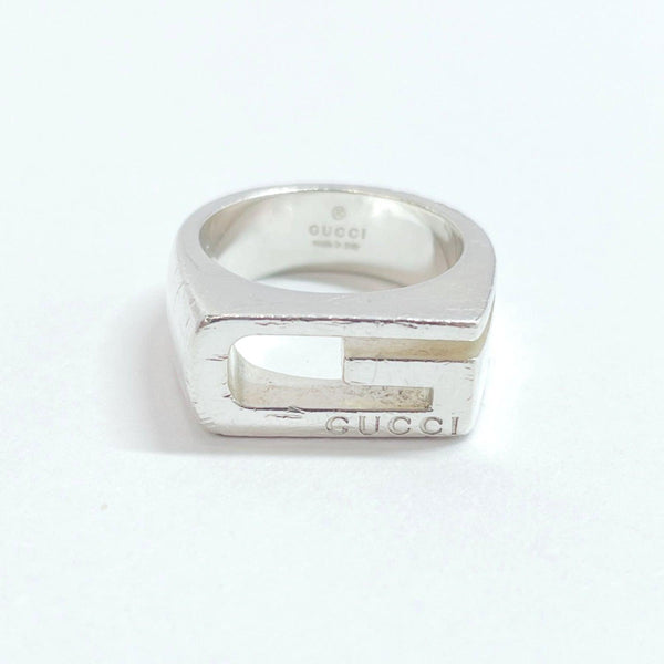 GUCCI Ring G logo Silver925 10 Silver Women Used