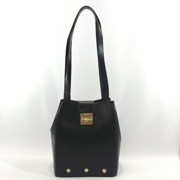 Salvatore Ferragamo Shoulder Bag vintage leather black Women Used