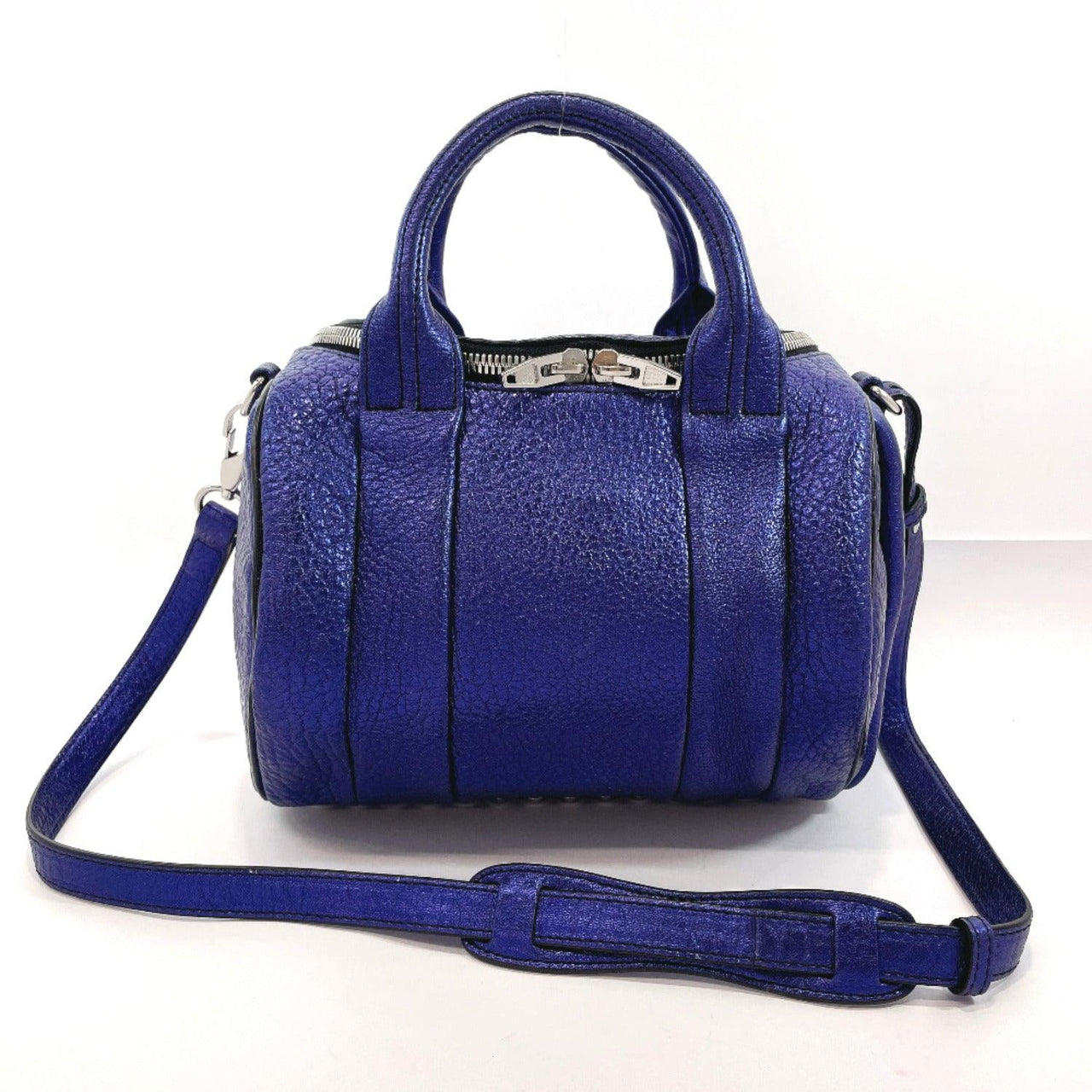 Alexander Wang Handbag Rocky 2way leather/SilverHardware blue Women Used