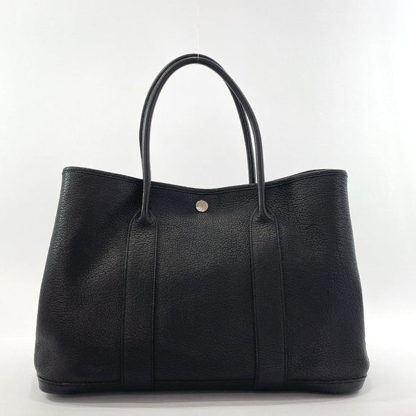 HERMES Tote Bag Garden party PM Negonda Black □MCarved seal Women Used