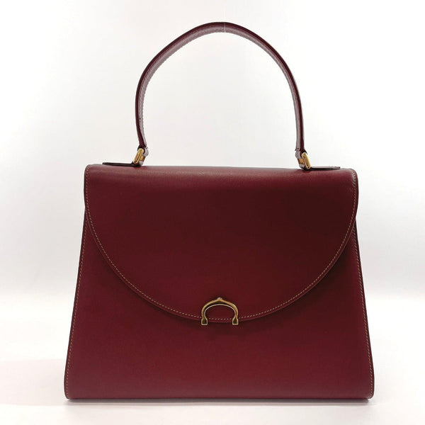 CARTIER Handbag L014843 Must Line vintage leather Bordeaux Women Used