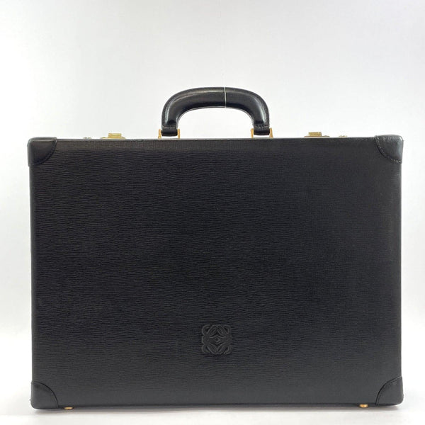 LOEWE Briefcase Attache case vintage leather Black mens Used