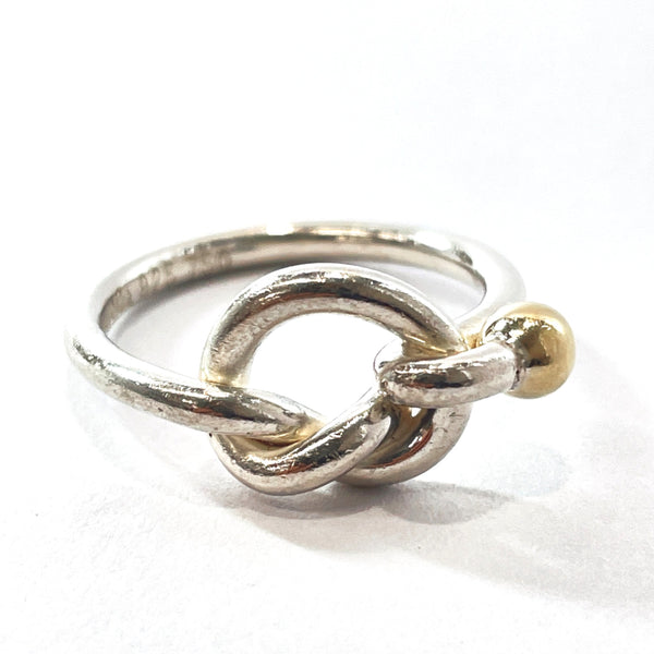 TIFFANY&Co. Ring Love knot Silver925/K18 yellow gold 10 Silver gold Women Used