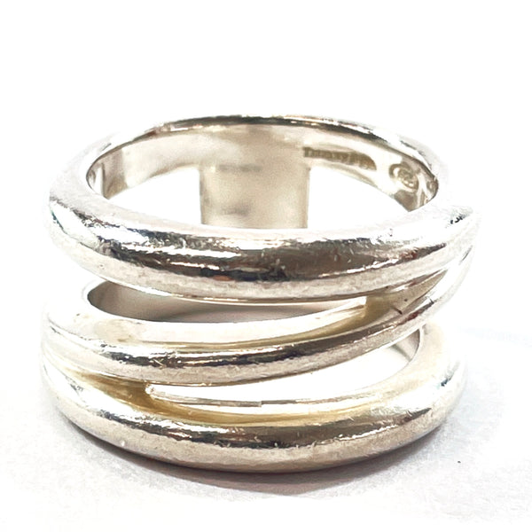 TIFFANY&Co. Ring Wave triple Silver925 10 Silver Women Used