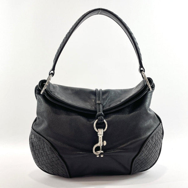 BOTTEGAVENETA Shoulder Bag 145683 V3052 1000 Intrecciato leather Black Women Used