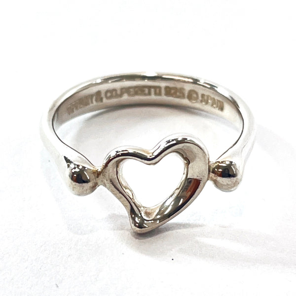 TIFFANY&Co. Ring Open heart Elsa Peretti Silver925 12 Silver Women Used