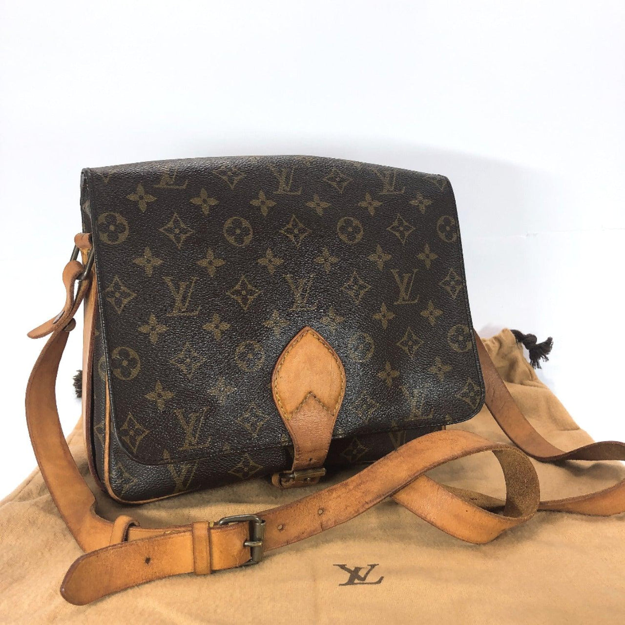 LOUIS VUITTON Louis Vuitton Cartouchiere M51252 Shoulder Bag Monogram Canvas Brown Ladies Used