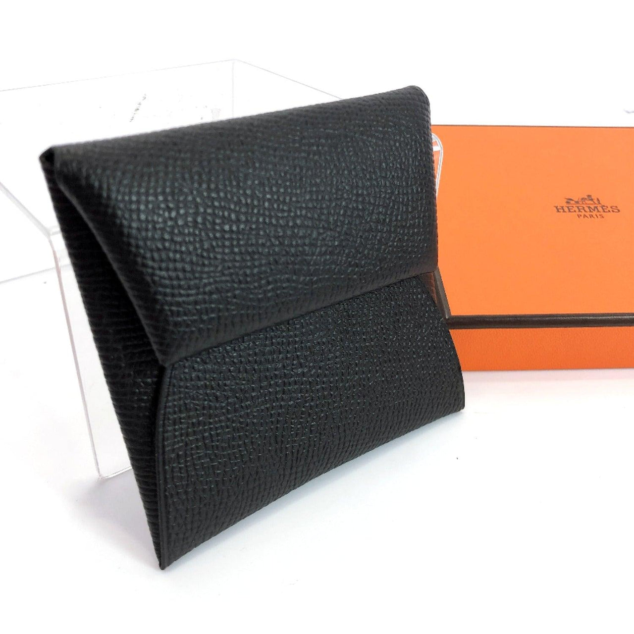 HERMES coin purse Bastia Epsom black C unisex New