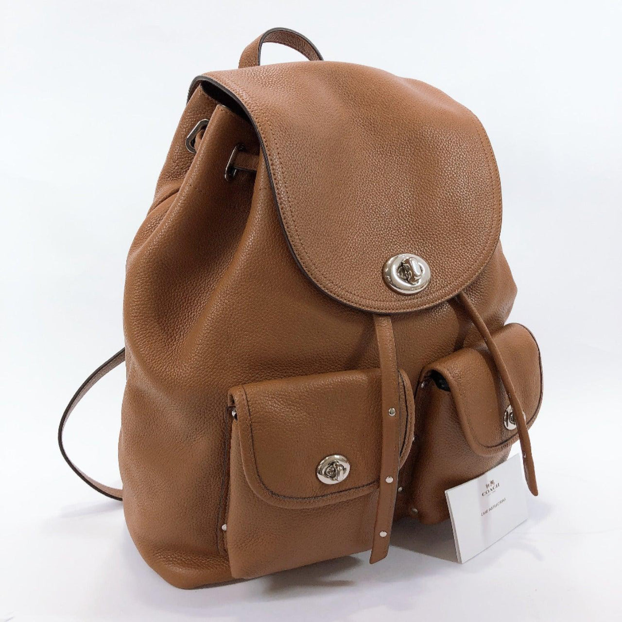 COACH Backpack Daypack 35303 leather Brown Women Used
