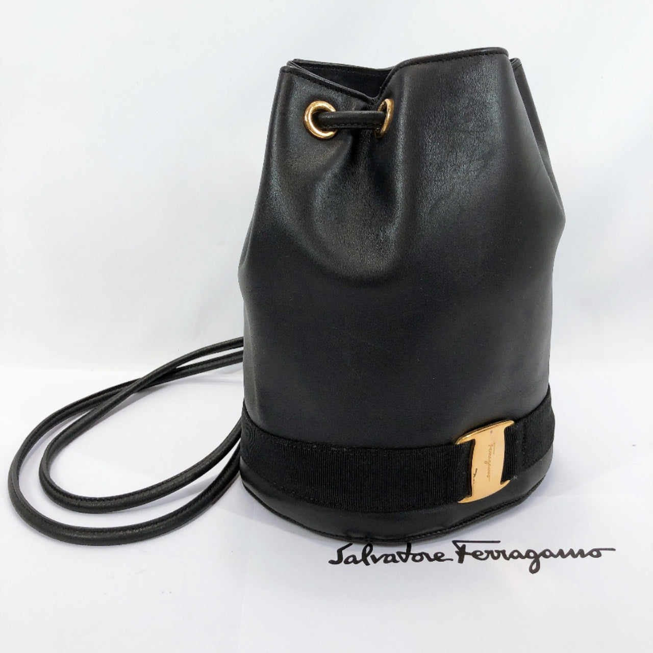 Salvatore Ferragamo Backpack Daypack Vala leather black Women Used