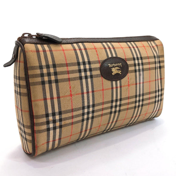 BURBERRY business bag Burberry check Brown mens Used