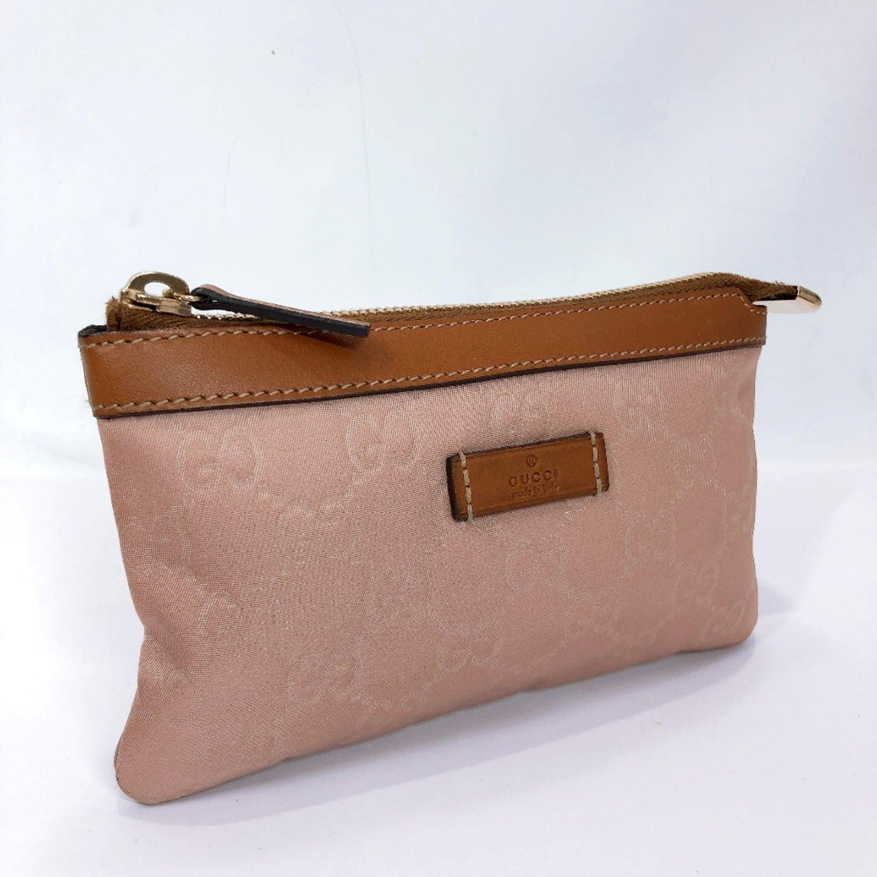 GUCCI Pouch 282070 Nylon pink Brown Women New