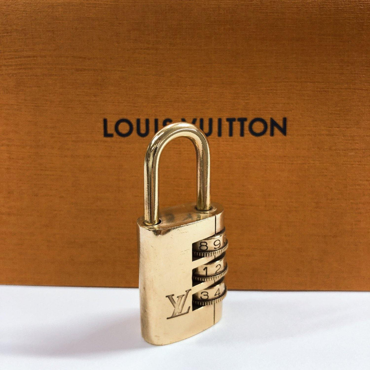 LOUIS VUITTON Cadena Dial padlock padlock brass gold unisex Used