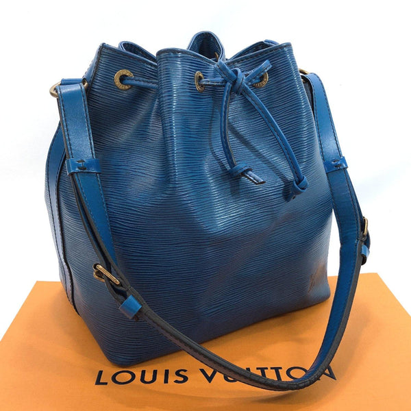 LOUIS VUITTON Shoulder Bag M44105 Petit Noe vintage Epi Leather blue Women Used