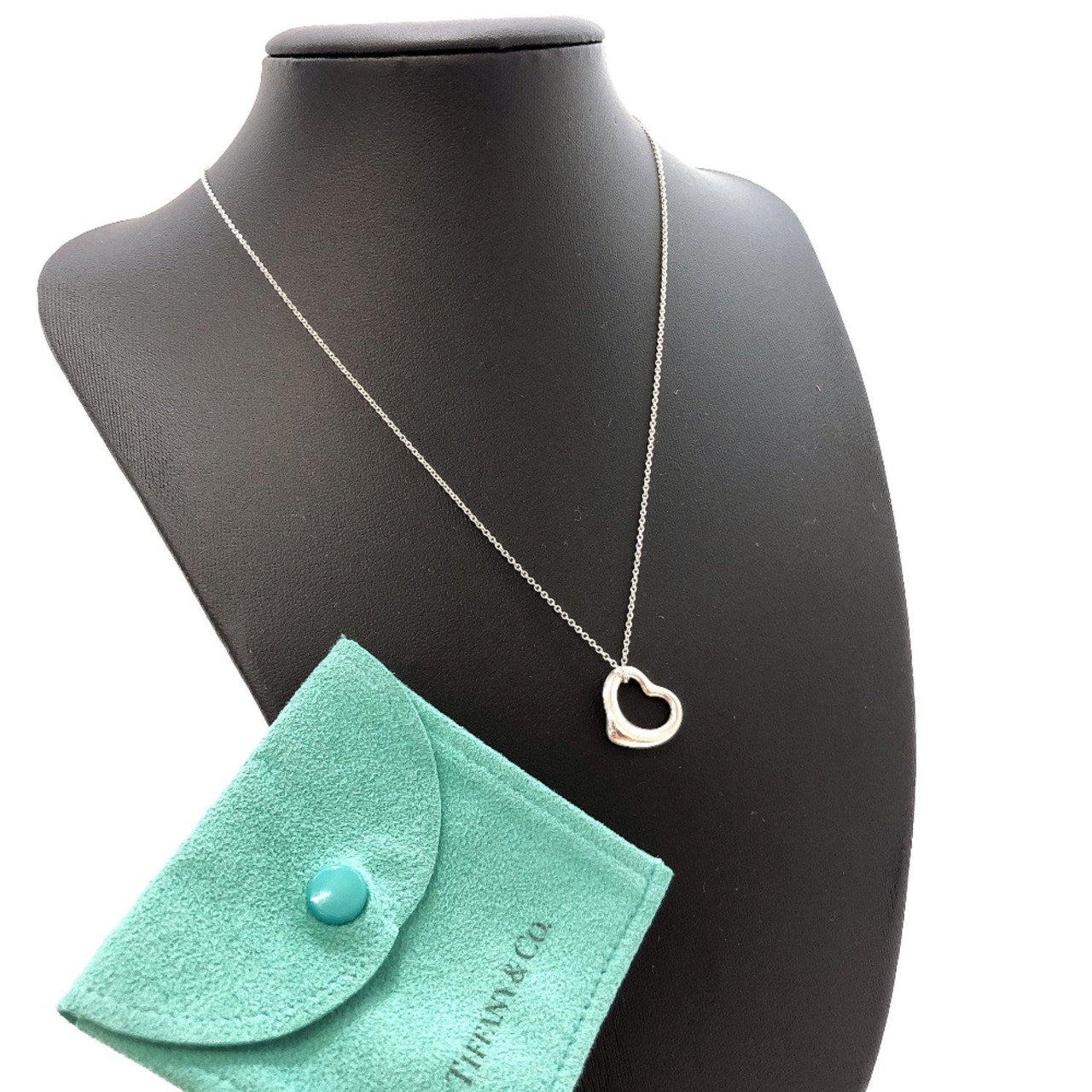TIFFANY&Co. Necklace Open heart Silver925 Silver Women Used - JP-BRANDS.com