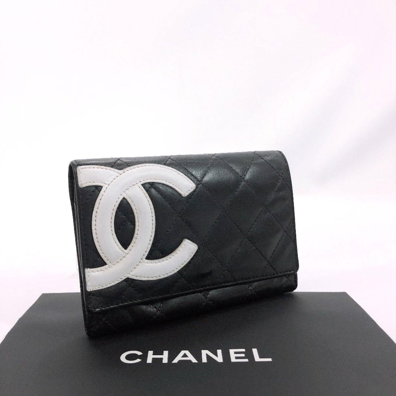 CHANEL coin purse Cambon line lambskin black Women Used - JP-BRANDS.com