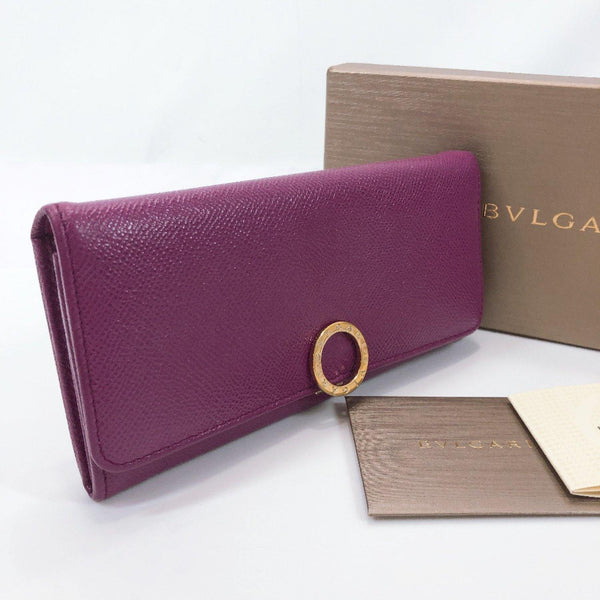 BVLGARI purse 282426 Bulgari Bulgari leather purple Women Used