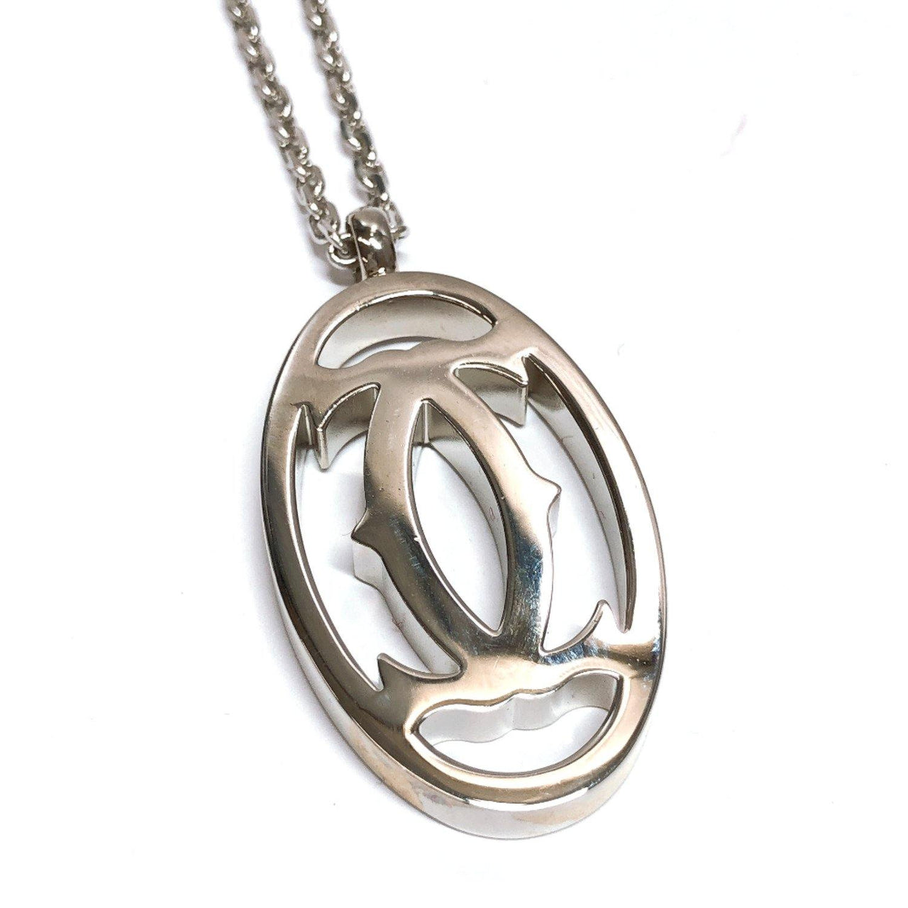 CARTIER Pendant top Necklace metal Silver Women Used